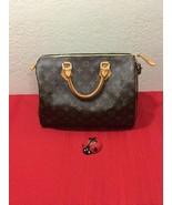 Authentic Louis Vuitton Hand Bag Speedy 30 SD1015 Brown Monogram - $600.00
