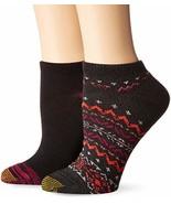 Gold Toe Women's Fireside No Show Socks, 2 Pairs, Charcoal/Black, Shoe S... - $13.86