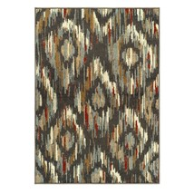 Superior Solitaire Traditional Ikat  Muti-Color  3' x 5' Area Rug  - $49.95