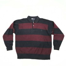 Ralph Lauren Gestricktes Polohemd Pullover GRÖSSE L L Gestreift Langärmlig Flip - $28.70