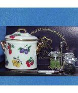 DOLLHOUSE Canning Preserving Set Fruit Pattern Reutter 1.633/8 Miniature - $24.20