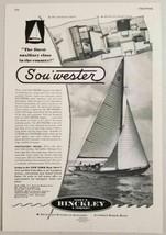 "1949 Print Ad Sou""Wester Sailboats Hinckley & Co. Southwest Harbor,ME - $12.52"