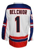 Custom Name # Halifax Highlanders Retro Hockey Jersey White Belchior #1 Any Size image 5