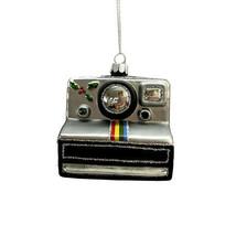 Darice Christmas Glass Ornament: Polaroid, 3.25 x 3 inches w - $11.99