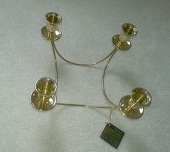 New PARTYLITE P0478 Brass Quartet 4 Candle Taper Holder NWT (No Original... - $10.39