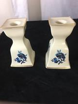 Lenox Pagoda Candlesticks Porcelain Candle Holders Vintage ca 1984 - $15.09