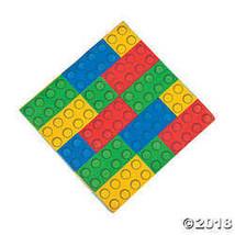 Color Brick Party Luncheon Napkins - $3.24