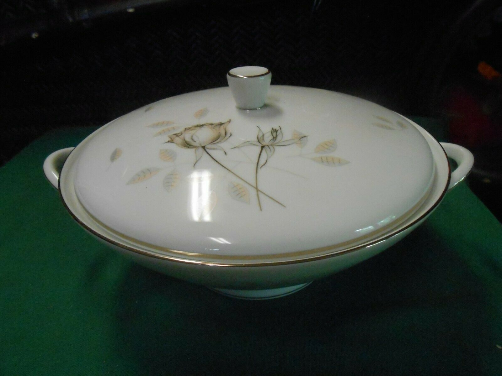 Primary image for  Magnificent ROSENTHAL Germany PEACH BROWN-GRAY ROSE ...CASSEROLE 9""