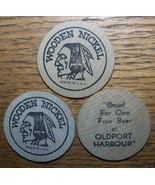 LOT VINTAGE OLDPORT HARBOUR WOODEN NICKEL NY - $4.94