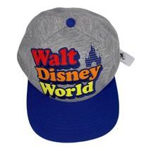 New Disney Parks Walt Disney World Retro Embroidered Snapback Hat Cap Ad... - $24.95
