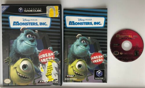 ☆ Monsters Inc Scream Arena (Nintendo GameCube 2002) COMPLETE in Case Game Works