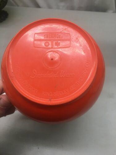 Vintage Thermos Insulated Ware White & Avocado Melamine Pitcher 70's EUC image 5