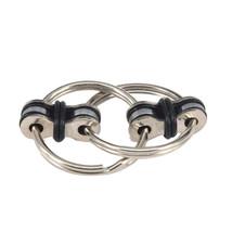 NEW Quiet Key Ring Bike Chain Fidget  flippy spinner focus toys add adhd... - $6.95