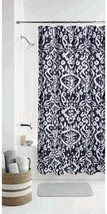 Mainstays Black and White Modern Ikat Polyester Shower Curtain, 70x72 - $24.62