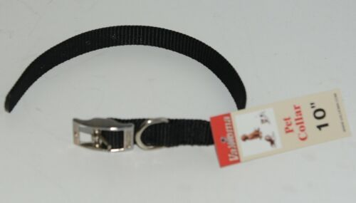 Valhoma 720 10 BK Dog Collar Black Single Layer Nylon 10 inches Package 1