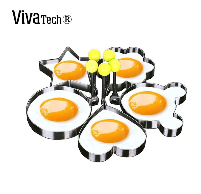 VivaTech® Stainless Steel Egg Shapes Mould for Perfect Egg [Gifts for Kitchen]
