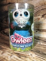 New Owleez Flying Baby Owl Interactive Drone Toy Sound & Lights White Free Ship - $29.21