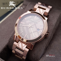 Burberry BU9146 The City Watch Rose Gold 34mm - $328.00
