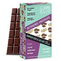 Kiss My Keto Low Carb Keto Chocolate, Pumpkin Seeds with Sea Salt Keto S... - $24.99