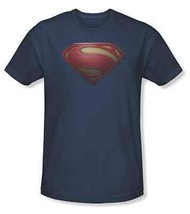 Auténtico Superman Hombre de Acero Mos Logo Escudo DC COMICS Cine Camiseta S-3XL - $22.15