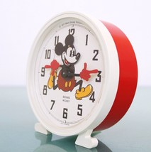 BAYARD MICKEY MOUSE French Vintage Alarm Clock Disney Mantel 1977 Motion... - $169.00