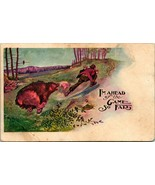 Vtg Postcard 1907 UDB Comic I'm Ahead of the Game So Far Man Chased by Bear - $8.95