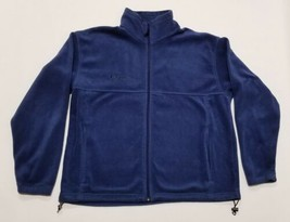 Men's COLUMBIA Full Zip Lightweight Fleece Jacket Blue Size XL Extra Lar... - $26.86