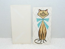 VINTAGE 1950's-60's GIBSON LETTER-ETTES CAT IMAGE BLANK GREETING CARD 26... - $10.99