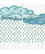 Curtains Rain Clouds Raindrop Print Backdrop 19793 - $38.09