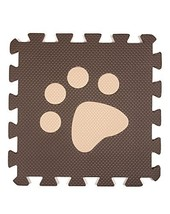 Interlocking Foam Mats EVA Foam Floor Mats (10 Tiles) Brown Footprints