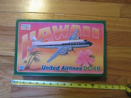 Hawaii United Airlines DC 6B Model kit box is opened but parts are seale... - $14.99