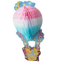 Teddy Bear Baby Shower Centerpiece 3D Honeycomb Hot Air Balloon Party De... - £6.18 GBP