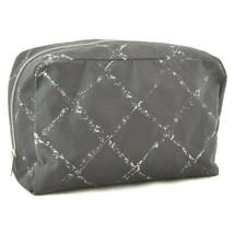 CHANEL Travel Line Canvas Clutch Bag Black Auth rd170 - $210.00