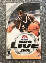 NBA Live 2002 *ORIGINAL MANUAL ONLY (NO GAME)* Sony PS2 PlayStation 2 - $4.27