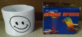 Slinky Magic Spring Toy White Smiley Face Giveaway Children's Science Toy - $3.95