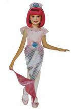 Pretty Mermaid Kit + Crown Halloween Costume Girls One Size 3+ 2 Pcs - $15.79