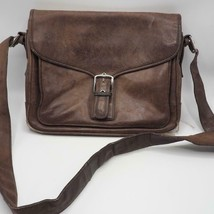 Coach Saddle Brown Leather Crossbody Messenger 5735 - $44.54