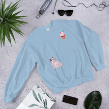 unisex cat chase sweatshirt by KonbiT - $24.99