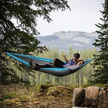 2 Person Nylon Hammock with 400 Pounds Capacity and Built-In Stuff Sack ... - $18.99