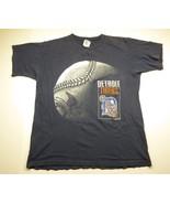 90s BLUE 1994 MLB Detroit Tiger's Baseball Graphic T-Shirt Adult Men's S... - $29.65