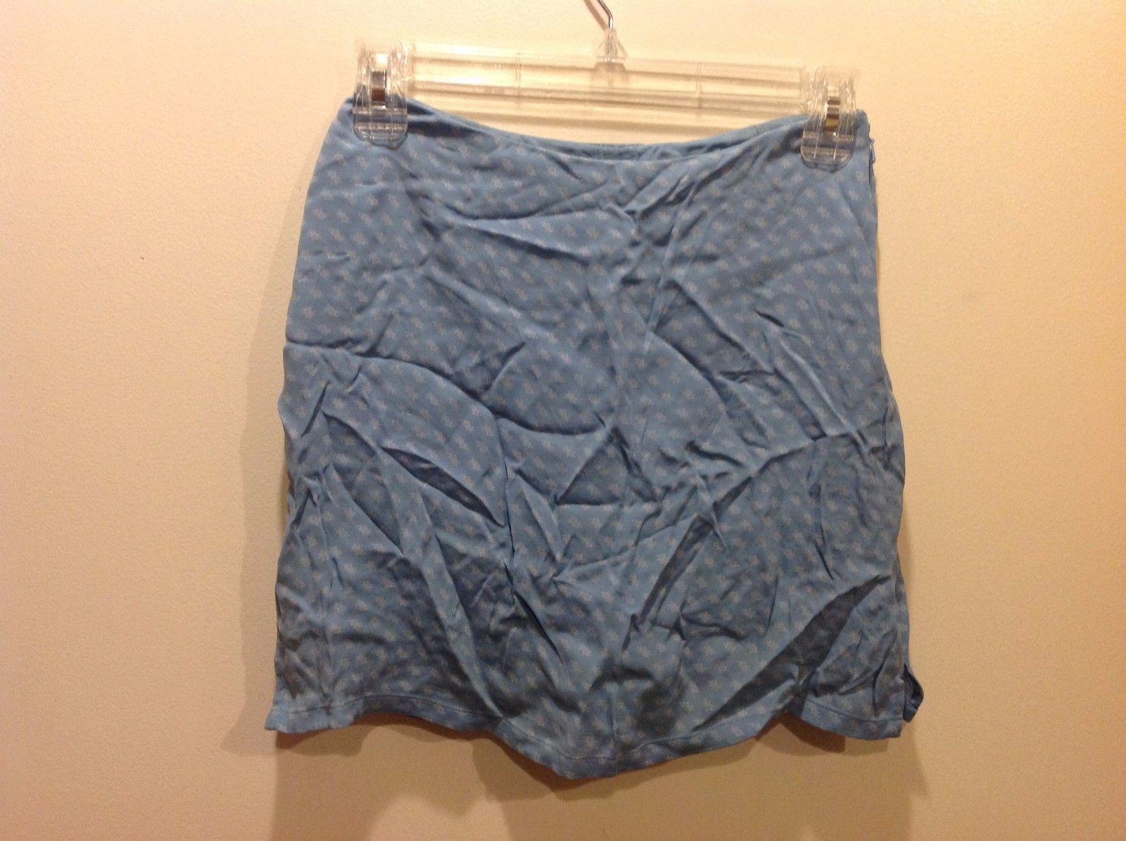 Banana Republic Light Blue Floral Patterned Skort Sz 0