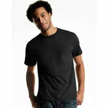 4-Pack Hanes ComfortSoft Men's Dyed Crewneck Pocket T-Shirt - Black - S-3XL - $20.89