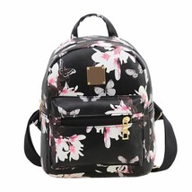Women Floral Printing Backpack High Quality PU Leather Travel School Bag... - ₹1,000.46 INR