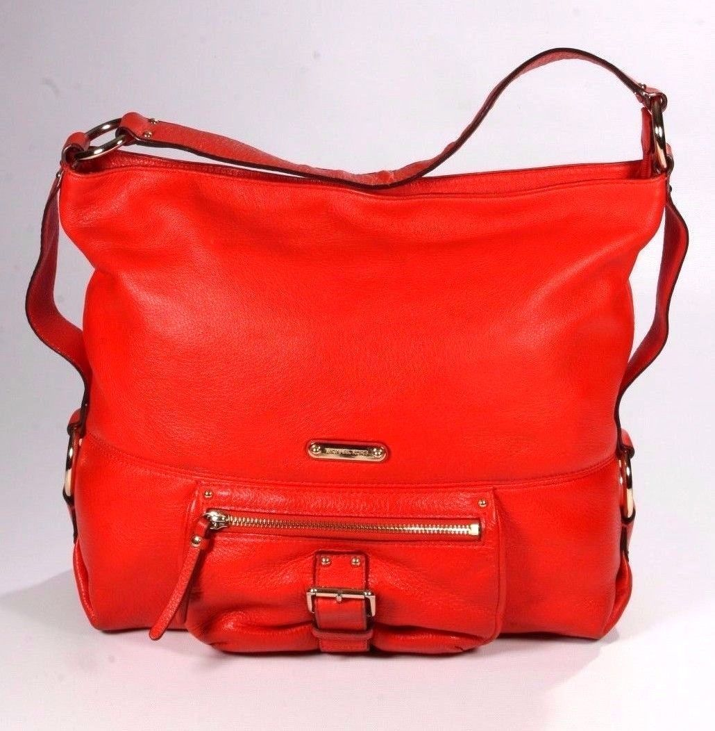 3f431bc5a5ed6d Michael Kors Orange Leather Hippie Hobo and 50 similar items. 57