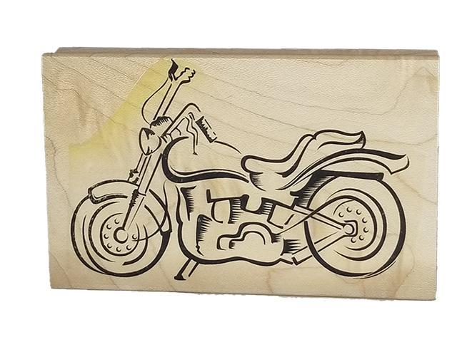 Motorcycle Rubber Stamp