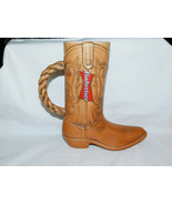 1994 Budweiser Cowboy Boot Stein 8 1/2 Inches Tall & Foot 7 Inches Long - $19.99