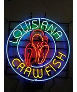 "New Louisiana Crawfish Lamp Bar Man Cave Neon Sign 24""x24"" - $196.34"