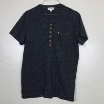 Diesel Men's Short Sleeve T-Shirt Size Medium Gray Marled Pocket Tee  - $12.16