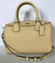New Coach F31082 Mini Bennett Satchel Leather handbag Vanilla (Yellow) - $123.70