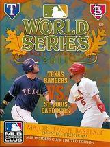 St Louis Cardinals 2011 World Series Program Collectors Item Keepsake  - $15.00